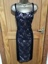 George Black Dress With Lace Detail, Size 14, NWT