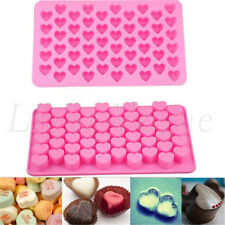 Silicone 55 Heart Cake Chocolate Cookies Baking Mould Ice Cube Soap Mold Tray VY