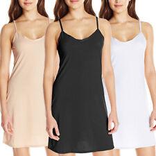 Plus Size Women Sexy Lingerie Nightie Full Slip Cotton Babydoll Sleepwear Dress