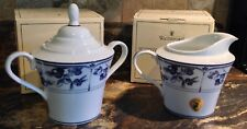 NEW WATERFORD TOWN & COUNTRY NORMANDY CREAMER & COVERED SUGAR BOWL BOXES