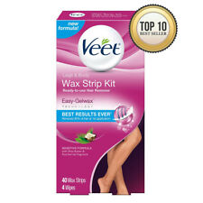 Veet Leg and Body Hair Remover Cold Wax Strips, 40 Count Pack of 1