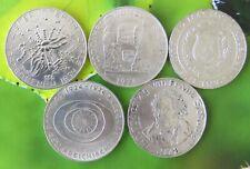 Österreich 5x50 Schilling 1974, 1978, Silber-Gedenkmünzen