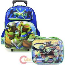 TMNT Ninja Turtles Large School Roller Backpack with Lunch Bag Set- Tough Guys