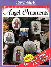 PRIZEWINNING ANGEL ORNAMENTS CROSS STITCH PATTERN BOOK COWGIRL, BEAR ANGEL MORE!