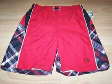 Boys Size XS 4-5 OP Ocean Pacific Board Shorts Swim Trunks Red Black White New