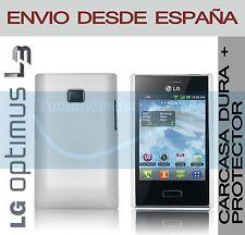 CARCASA FUNDA DURA BLANCA + PROTECTOR DE PANTALLA LG OPTIMUS L3 E400 EN ESPAÑA