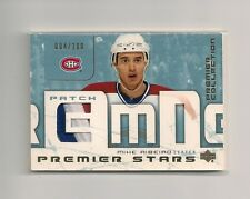 2003-04 UD Premier Collection Premier Stars #ST-MR Mike Ribeiro Patch 004/100