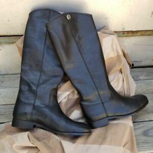 Frye Melissa Button 2 Black Women's Boots Size 10,Extended Calf