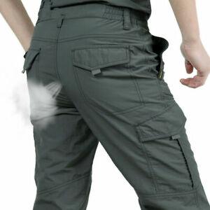 Mens Tactical Work Cargo Pants Combat Quick Dry Lightweight Climbing Outdoor