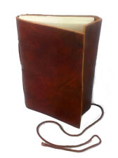 """LARP Real Leather Bound Note Book,Journal, Diary Hand Made Paper, 3.5""""x5"""""""