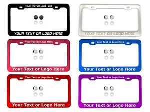 Laser Engraved Customize Cadillac License Plate Frame Aluminum Tag Holder