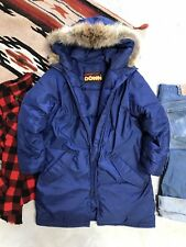 Vintage 70's Sportcaster Down Quilted Puffer Fur Coat Ski Winter Snow Women's M