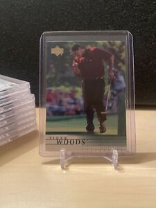 2001 Upper Deck Golf # 1 🔥 Tiger Woods Rookie Card RC ! - Invest 🔥 Pls Read