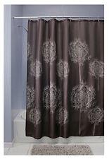 Inter Design 37020 Dandelion Cocoa Print Curtain Cloth Shower Curtain