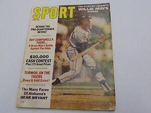 SPORT MAGAZINE 1967 SAN FRANCISCO GIANTS  WILLIE MAYS HEAVY WEAR  gm733