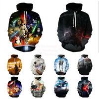 Star Wars Hot Movie 3D Print Hoodies Sweatshirt Men Women Causal Pullover Tops