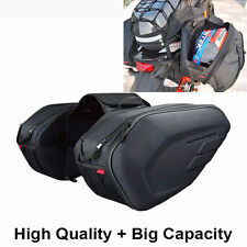 Waterproof fit Motorcycle Pannier Bags Luggage Saddle Bags w/ Rain Cover 36-58L