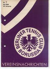 Tennis Borussia Berlin - Vereinsnachrichten - Mai 1968