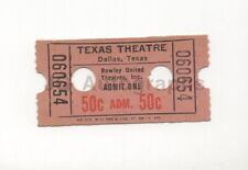 JFK Assassination - Texas Theatre - Vintage Ticket Stub (Year Unknown)