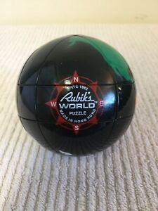 Vintage 1982 Ideal Rubik's World Globe Puzzle Sphere (No Stand) DISINFECTED!