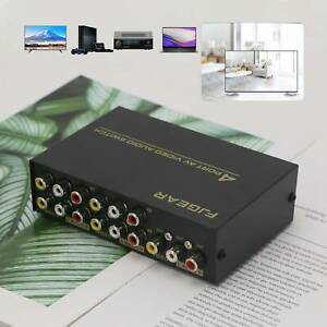 4 In 1 Out Video Audio RCA AV Switch Switcher Selector TV Splitter Box 4 Ports