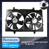 Dual Radiator Cooling Fan ASSY For 04 05 06 07 08 09 Nissan Quest 3.5L V6 DOHC