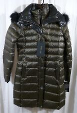 Andrew Marc Women's Down Coat Inner Bib and Fur Trim Hood Size Small MSRP $479