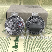 US Army Military Service the 82nd Airborne Division Challenge Coin