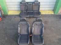 Audi Q5 8R S-LINE LEATHER INTERIOR SEAT BLACK LEATHER ALCANTARA