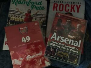 Arsenal 2 Hardback Books + 2 DVD collection: David Rocastle Ray Parlour 49 DVD