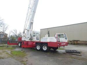 Link Belt 50 Ton HTC-50W Telescopic 35'-90' Boom Truck Crane w/32' Jib NEW TIRES