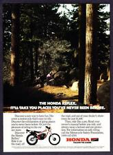 """1986 Honda Relex Motorcycle photo """"Takes You Places You've Never Been"""" print ad"""