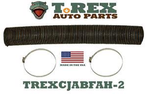 """1958-1971 Jeep CJ5,CJ6 4 1/2"""" diameter Fresh Air Box Hose pre-cut 30"""" w/ clamps"""