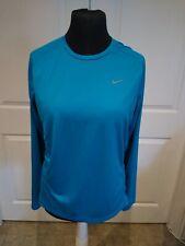 Nike Running Long Sleeve Blue Large Mens Dri Fit