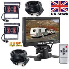 """4Pin 7"""" LCD Monitor +Harvester Truck RV Waterproof Night Vision Reversing Camera"""