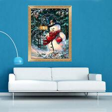 5D Diamond Painting Christmas Snowman Embroidery DIY Cross Stitch Xmas Decor