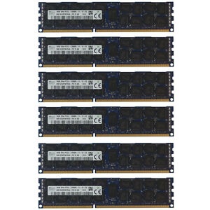 96GB Kit 6X 16GB DELL POWEREDGE C2100 C6100 M610 M710 R410 M420 R515 MEMORY Ram