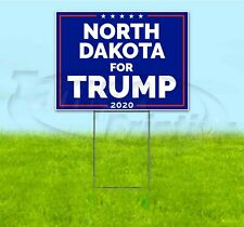 NORTH DAKOTA FOR TRUMP 2020 18x24 Yard Sign WITH STAKE Corrugated Bandit MAGA