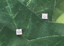 Sassi AE3097 Sterling Silver 4mm Princess Cut Cubic Zirconia CZ Stud Earrings