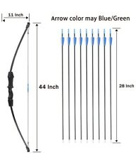 "Kingbow 45"" Bow and Arrow Set for Kids Archery Beginner Gift Recurve Bow Kit"