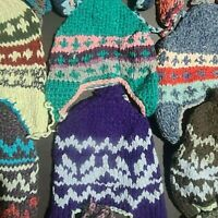HANDMADE Paki Mucks MUKLUKS SHOE Socks XS to XL Womens Mens Wholesale LOT of 10