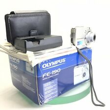 Olympus FE FE-190 6.0MP Digital Camera - Silver TESTED Boxed with charger