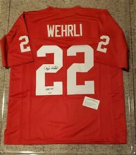 417aefdac Roger Wehrli St. Louis Cardinals Signed Autographed Jersey Leaf Authentics  COA