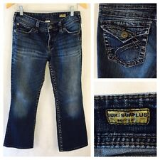 Women's Silver Jeans Suki Surplus- Flap Pockets Bootcut 27 x 30 Actual 27 X 25.5