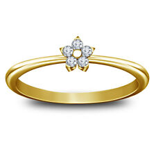 1.00 Ct Round D/VVS1 Diamond Ladies Engagement Wedding Ring 14K Yellow Gold Over