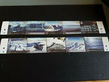 BRITISH ANTARCTIC TERRITORY 2012 SG 584-593 GLACIERS AND ICE SHEETS USED