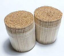 Makerstep Ornate Wooden Toothpicks with Holder, 1000pcs (2 Packs of 500 pcs)