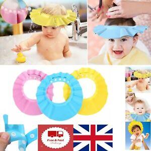 Toddler Baby Shower Bath Hat Anti-Shampoo Visor Shower Wash Hair Shield Caps UK