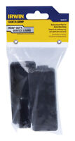 Irwin  Quick-Grip  Plastic  Replacement Pads  Black  2 pc.