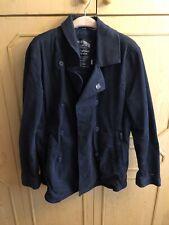 Genuine Tommy Hilfiger Denim Doubled Breasted Pea Jacket Dark Blue Size XL